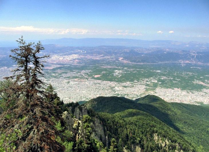 Uludağ'dan Bursa Manzarası