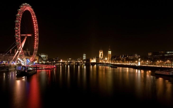 London Eye Gece