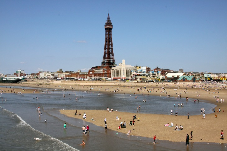 Blackpool Tower viewed from the Central Pier. Sunday 31st May 2009